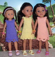 Ravelry: Pick A Hem! 13-inch Doll Dress pattern by Janice Helge