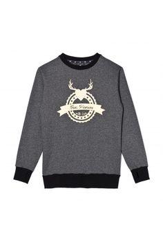 Femi Pleasure sweatshirt ELMO black pepper