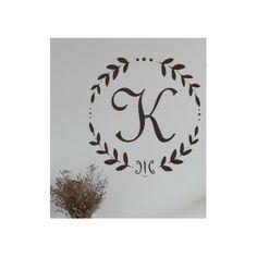 Alphabet Garden Designs French Vine Monogram Wall Decal | Wayfair