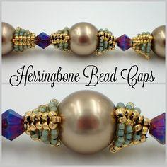 Herringbone Bead Caps  #Seed #Bead #Tutorials