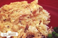 Slow Cooker Italian Chicken and Rice Recipe | littleindiana.com