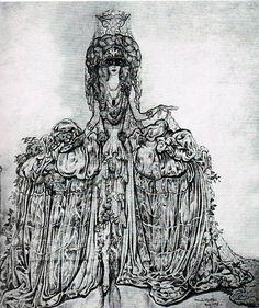Luisa dressed as the Comtesse de Castiglione by A. Martini, 1925