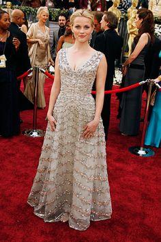Reese Witherspoon vintage Dior dress- HarpersBAZAAR.com