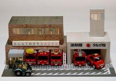 PAPERMAU: Japanese Fire Brigade Headquarter Paper Model - by Targa Japan
