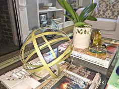found this sphere @tjmaxx and needed to give it a little #diy gold glam job, check it out