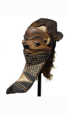 Africa | Mask from the Pende people of DR Congo | Wood, pigment and natural fiber | ca. 1976 or earlier
