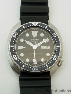 Massive Vintage Seiko 6309 7049 Divers Stainless Steel Mens Wrist Watch #Seiko