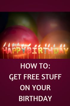 Did you know major companies offer amazing birthday freebies? Check out the very best places to get free stuff on your birthday! Free Stuff Canada, Stuff For Free, Birthday Freebies, Amazing, Places, Check, Birthday Free Stuff, Lugares