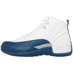 """Nike Mens Air Jordan 12 Retro """"French Blue"""" White/French Blue-Metallic... ($319) ❤ liked on Polyvore featuring men's fashion, men's jewelry and mens watches jewelry"""