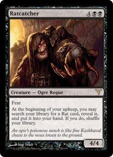 Magic the Gathering RARE- Ratcatcher  with bonus cards!