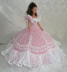 Items similar to Crocheted barbie doll dress on Etsy