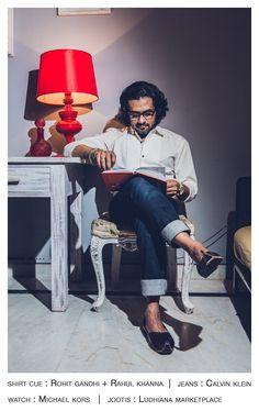 When in doubt, wear blue denims and a white shirt. ~ Sounak Sen Barat