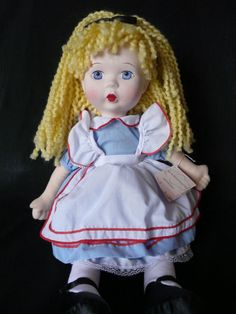 "Madame Alexander Alice In Wonderland Cloth Collector's Doll 18"" #Dolls"