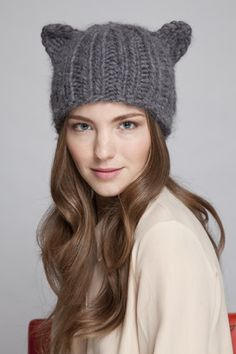 Cat ears beanie, just because.