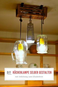 individuelle k chenlampe selber machen lampe selber. Black Bedroom Furniture Sets. Home Design Ideas