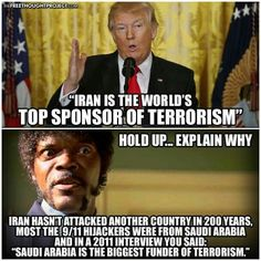 Well Iran sponsors lots of terrorist groups, and they are possibly harboring nukes they secured through proliferation, or they developed with help from North Korea or even Russia. They aren't our friends and may be the most dangerous rogue nation on Earth.