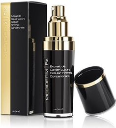 Best Skin Care Anti Aging Serum - Mediderm Extrait de Caviar Luxury Cellular Firming Concentrate 1 oz - Skin Firming Serum with Hyaluronic Acid and Caviar Extract for All Skin Types to Reduce Fine Lines, Wrinkles, and Sagging Skin - Contains Luxury Natural Skin Care Ingredients - 100% Money Back Guarantee