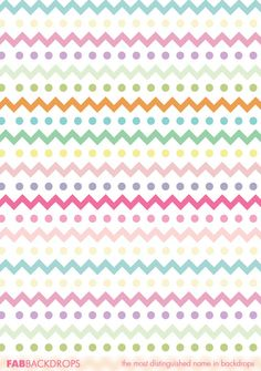 FabVinyl Easter Themed Chevrons and Dots Backdrop is a beautiful pattern to use for portraits, parties, and groovy events. Easter Backdrops, Photography Backdrops, Beautiful Patterns, Chevron, Dots, Stitches, Photo Backgrounds, Photography Backgrounds