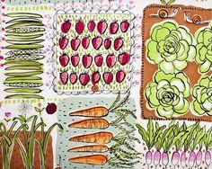 vegetable garden fabric fro Alexander Henry.