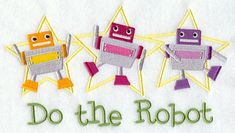 Do the Robot Dance.  Available in 2 sizes