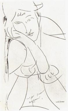 modigliani drawings | amedeo modigliani 1884 1920 varivara wrote in all drawings november ...