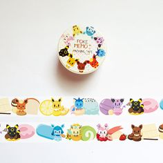 This is a listing for one roll of limited edition fan-illustrated Poke Memo II washi tape. Each roll measures x Item: Washi Tape Roll Style: Pokememo II Width: Length: Diy Clay, Clay Crafts, Note Pen, Masking Tape, Washi Tapes, Folders, Pokemon, Cute Stationary, Shops