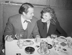 Orson Welles and wife Rita Hayworth at the Stork Club