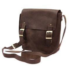 UNICEF Market   Handcrafted Brown Leather Messenger Bag from Peru - Intrepid Traveller