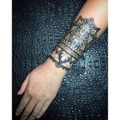 #mulpix Custom mandala cuff || tattoo for @johanasty || tattoo by @aidovich88 || artwork by @aleksey_shapoval || ink by @allaprimaink