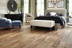 Bedroom retreat sweetness! #Mannington #Laminate #Floor Sawmill Hickory