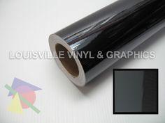 "24"" Wide Black Chrome Polished -*LVG InterCal*- Sign & Graphic Vinyl Film"