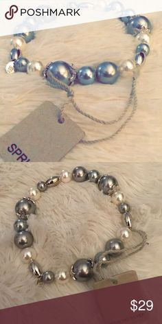 ⬇️FINAL PRICE⬇️🆕Sterling silver bracelet🆕 **THIS ITEM MUST BE BUNDLED**⭐️TOP RATED SELLER⭐️️📬NEXT DAY SHIPPING📬GORGEOUS brand new pearl bracelet from SPRIG. LUC 925 CN Stamped. Perfect for an evening out 💃🏼GREAT GIFT! 🎁 SPRIG Jewelry Bracelets