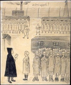 Roll call at Auschwitz - Ella Liebermann.