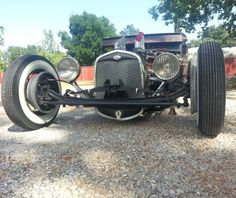 1929 Coupe with a 31 Ford grill shell.  Car and shell slightly cut down....