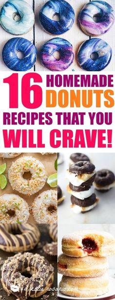 Donuts Beignets, Fried Donuts, Diy Donuts, Homemade Donuts, Making Donuts, Baked Doughnuts, Homemade Breads, Oreo Dessert, Mini Desserts