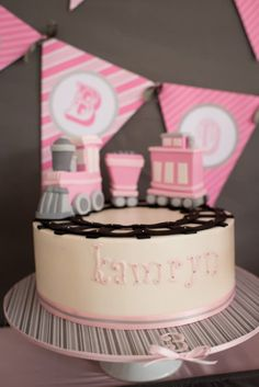 Girly Train Birthday Party - Pretty My Party - Party Ideas