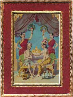 Ravi Varma Old Prints,Oleographs,Antique Prints,Lithographs,Old Paintings Raja Ravi Varma, Lord Vishnu Wallpapers, Mughal Empire, Old Paintings, Antique Prints, Hinduism, Incredible India, Krishna, Mythology