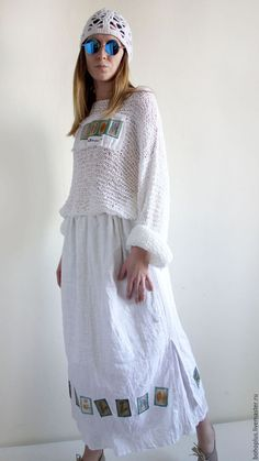 Boho Outfits, Trendy Outfits, Look Fashion, Womens Fashion, Embroidery On Clothes, Clothes Crafts, Fashion Sewing, Linen Dresses, Bohemian Style