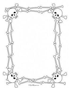 Pirate activities: Skull border for pirate worksheet.: