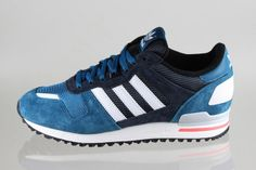 Adidas Zx 700 Retro Trainers Shoes Mens Navy Blue Orderly Design