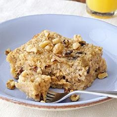 Try baked oatmeal for a unexpected morning treat. It's a mix between an oatmeal bar and traditional creamy breakfast oatmeal.