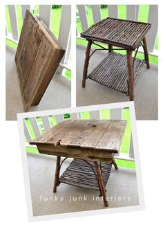 cute side table for patio