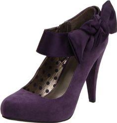 dark plum heels with bows Shoes Too Big, On Shoes, Wedding Shoes, Wedding Stuff, Wedding Ideas, Purple Pumps, Cross Training Shoes, Deep Purple, Purple Haze