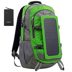 ECEEN Solar Bag, Solar Charger Backpack With 7 Watts Sola...