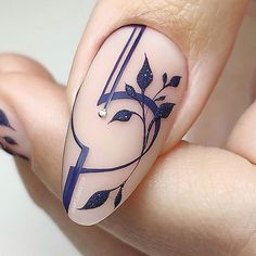 Beautiful Nails 2019 The Best Nail Art Design Nail Art Violet, Purple Nail Art, Cute Acrylic Nails, Cute Nails, Pretty Nails, Hair And Nails, My Nails, Geometric Nail, Best Nail Art Designs