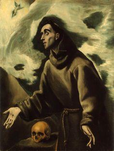 El Greco, Saint Francis Receiving the stigmata, 1585-90. Oil on canvas. el greco | Tumblr
