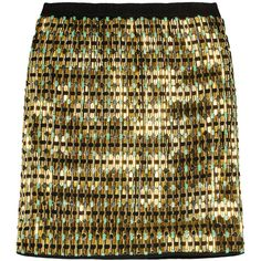 Proenza Schouler Embellished jersey mini skirt ($3,650) ❤ liked on Polyvore