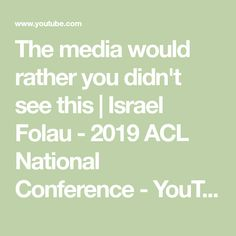 The media would rather you didn't see this Israel Folau, Acl, Conference, Medium, Youtube, Youtubers, Youtube Movies, Medium Long Hairstyles