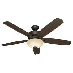Hunter Groveland 60 in. Premier Bronze Ceiling Fan-54125 - The Home Depot  -  for the great room.