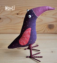 bird of Happiness by MarLitoys on Etsy